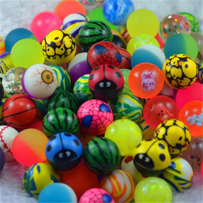 Funny Toy Balls Mixed Bouncy Ball Solid Floating Bouncing Child Elastic Rubber Ball Of Pinball Bouncy Toys