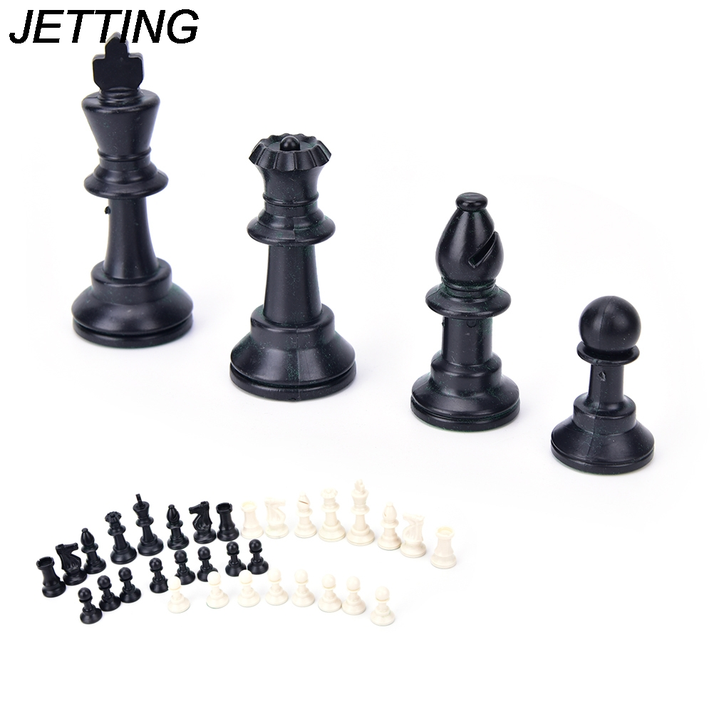 HOT 32Pcs/Set for Relax 65MM Complete Chess With Friend Play Chess Height Medieval Chess Pieces/Plastic image