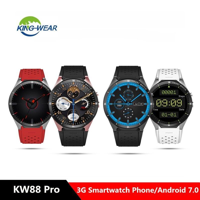 KingWear KW88 Pro 3G Smartwatch téléphone 1.39 pouces Android 7.0 MTK6580 Quad Core 1.3 GHz 1 GB RAM 16 GB ROM montre intelligente pk xiao mi