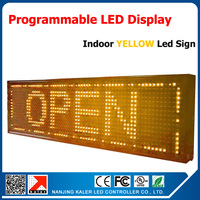 One pcs yellow P10 led display module Semi outdoor led sign 20*68cm programmable led message board yellow led sign