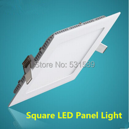 Intellective 20pcs Ultra Thin Led Panel Light 3w 4w 6w 9w 12w 15w 18w 25w Square Ceiling Led Panel Light 110v 220v Indoor Lighting We Have Won Praise From Customers