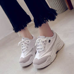 Новинка 2019 года; сезон весна; повседневная женская обувь в Корейском стиле; модная обувь белого цвета