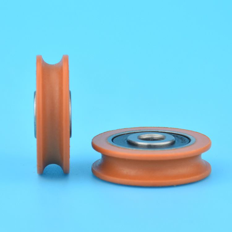 2pcs U Nylon plastic Embedded Groove Ball Bearings 6*29*8mm Guide Pulley