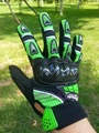wholesale MOTO racing glove KAWASAKI Motorcycle gloves Motorbike gear hand Black and green size M L XL