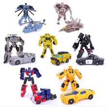 New Arrival Transformation toys Kids Classic Bumblebee Optimus Prime Robot Cars Toys 7 styles Figures Kids Education Toy Gifts