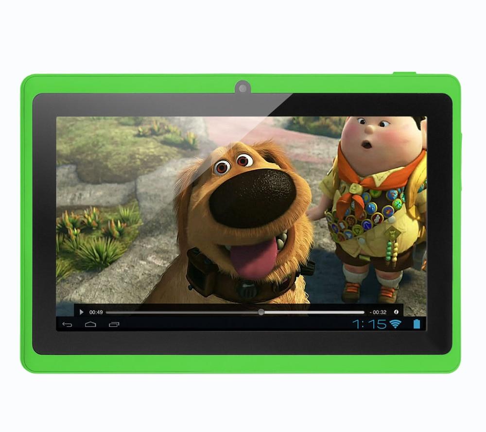 все цены на BDF Low Price 7 Inch Tablet PC Android System Google Quad Core 8GB WiFi Kids Gift Children's Toys Tablet PC онлайн