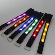 20pcs lot font b led b font flashing cloth font b bracelet b font luminous hand