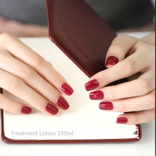 Great pure color nail strips Supernatural show hand nails, simple and easy wine red nails patch