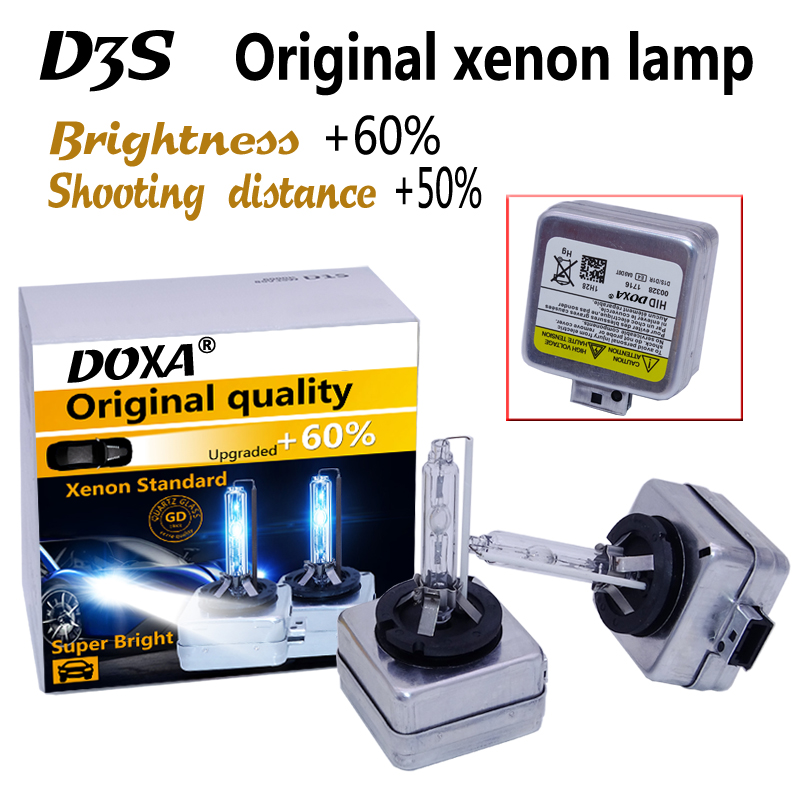 Free shipping D3S HID xenon bulb D3S for auto lamp 35W super brightness and longer life 4300K,6000K,8000K D3S Xenon