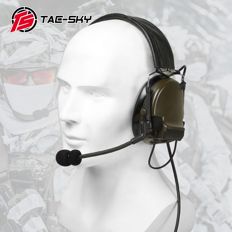 COMTAC III TAC-SKY COMTAC Comtac Iii Silicone Earmuffs Earphone Noise Reduction Pickup Military Tactical Headset C3FG