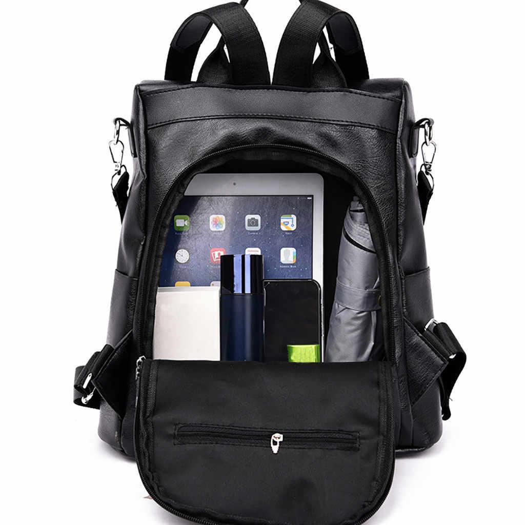 Женский рюкзак кожаная Цвет одинаковая школьная сумка в стиле «Дикая мода досуг дорожная сумка рюкзак, Студенческая сумка через плечо, женская сумка, рюкзак