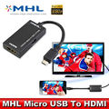 MHL Micro USB hub to HDMI Cable Cabo for Sony Xperia Z3 telefonos moviles HDTV Adapter Mobile phone to TV connector