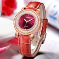 DOM  Women Watches Rhinestone Crystal Quartz Watch Leather Belt Fashion Personality Casual Sports Waterproof Wristwatch. G-86
