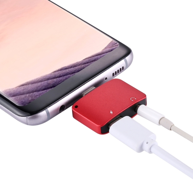 USB Type-C Audio Adapter Type-C Male to USB-C Female Charger 3.5mm Female Audio Adapter for Samsung Galaxy S8 plus LG G6 Phone