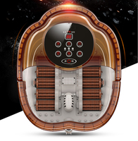 Spa Foot Massager Electric Roller Massage Footbath Massageador Device Machine Smart Control Heating Automatic Safe Bucket Basin