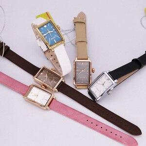 Image 5 - Nieuwe Vrouwen Horloge Japan Quartz Uur Fijne Eenvoudige Top Mode Jurk Lederen Armband Klok Meisje Verjaardagscadeau Julius 941 geen Doos