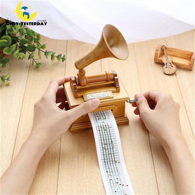 Conosciuto Diy nastro di carta compostaggio legno a manovella carillon  FI01