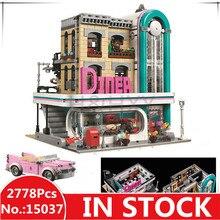H & HXY 15037 2778 шт. 15039 шт. 4619 Streetview серии центр Diner Set 10260 Лепин строительные блоки кирпичи 10261 игрушки подарки