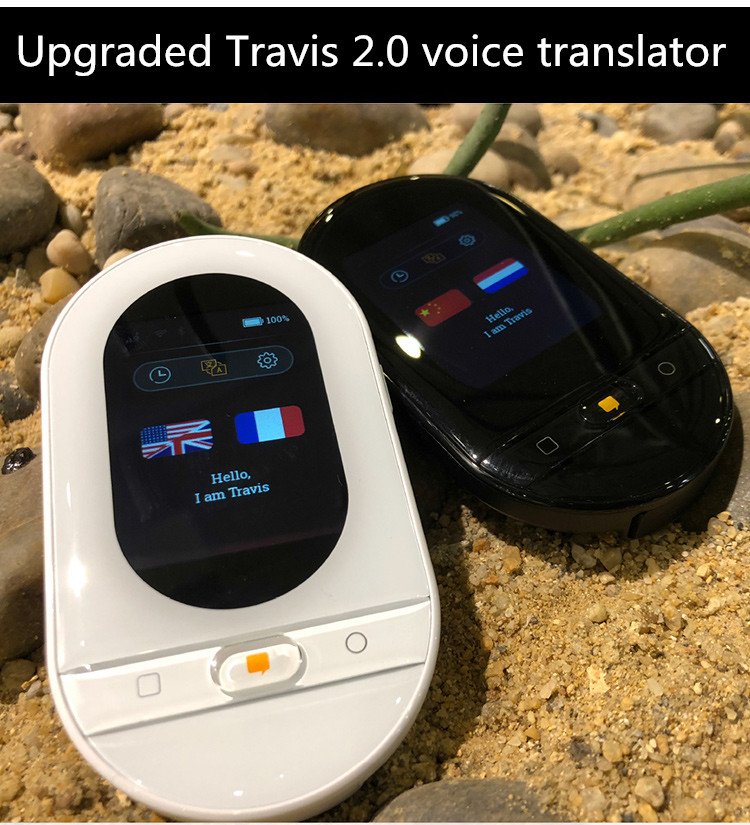 155 Language Travis 2.0 Plus Touch  Translator Offline Voice Translator OS 2.0  Wifi Bluetooth 4G Touch Screen Wireless Charging