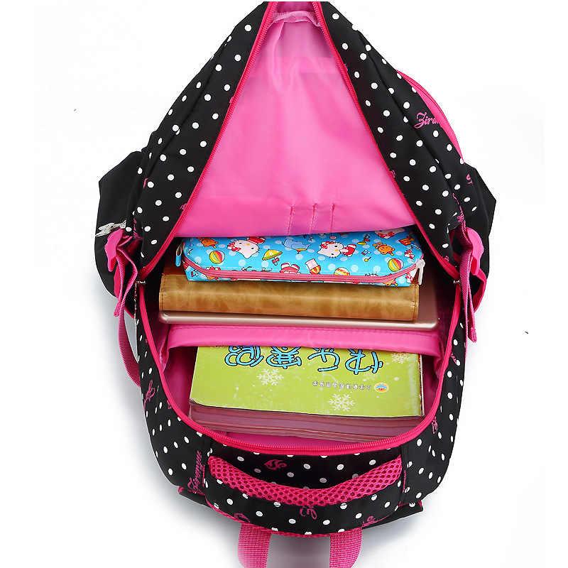 4b2f73f71dd8 ... ZIRANYU точка моды волна Начальная Школа сумки для девочек 2-6 Класс  бремя Ридж От