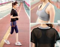 3 In 1 Sport Costumes For Women Yoga Suit Sports Bra Sleeve T Shirt Running Sport