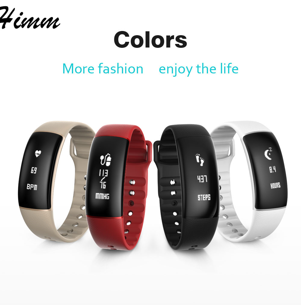 S69 Blood Pressure Smart Bracelet Watch Heart Rate Monitor Waterproof Fitness Tracker Smartband Wristband for iPhone
