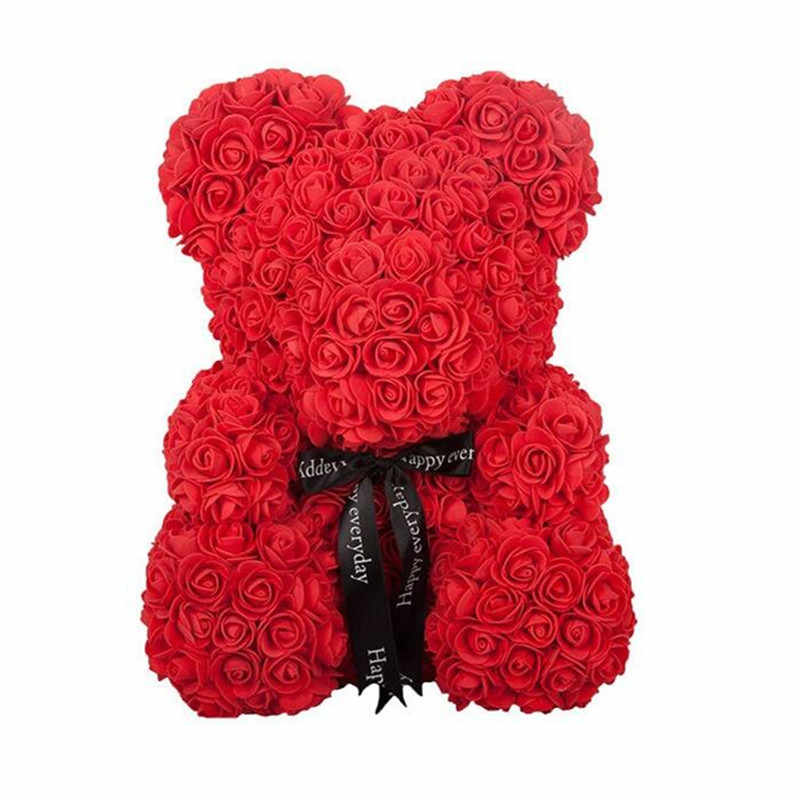 25cm Gấu Hoa Hồng Búp Bê PE Nhân Tạo Hoa Hồng Tay Tình Yêu Lãng Mạn Trái Tim Hoa Hồng Hoa Gấu Bông Xốp Đồ Chơi Lễ Tình Nhân ngày Cưới Quà Tặng