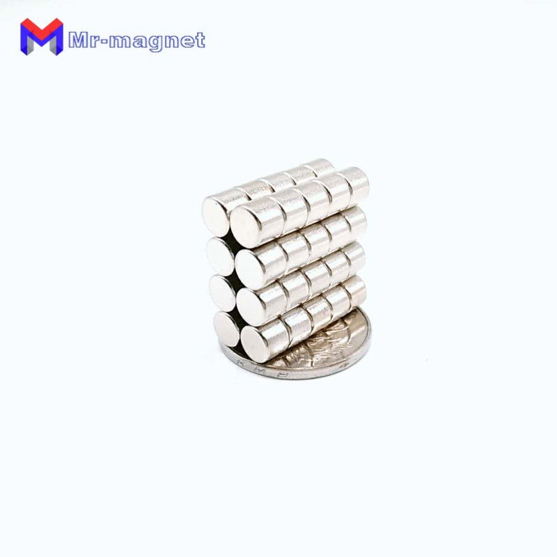 200Pcs 6 x 5 mm Neodymium Magnet Permanent N35 D6 5 6x5mm NdFeB Super Strong Powerful Small Round Magnetic Magnets Disc Dia 6x5 in Magnetic Materials from Home Improvement