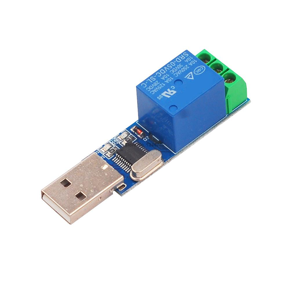 1PCS LCUS-1 USB 5V 1 Channel Relay Module USB Intelligent Control Switch Serial Relay Module 5v relay isolation control module