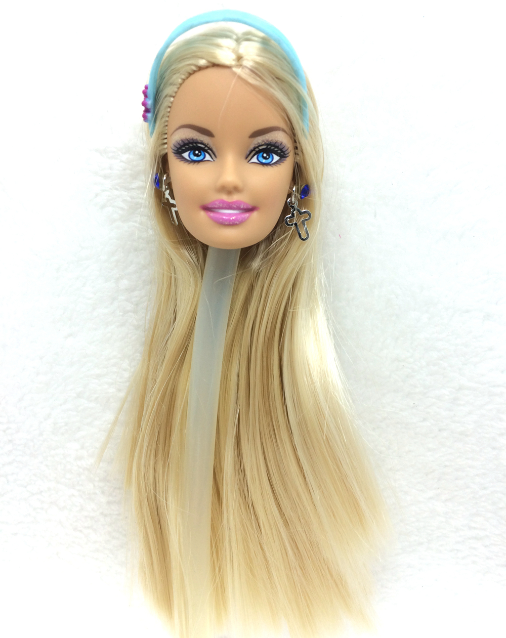NK One Pcs Unique Doll Head With One Pair Of  Style Metallic Earrings For Barbie Dolls Greatest DIY Present For Women'  Doll