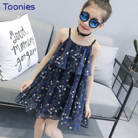 여름 어린이 캐주얼 소녀 드레스
