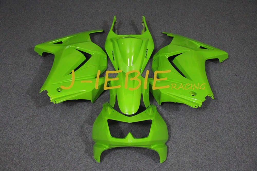 Green Injection Fairing Body Work Frame Kit for Kawasaki NINJA 250R EX250 EX 250 R 2008 2009 2010 2011 2012