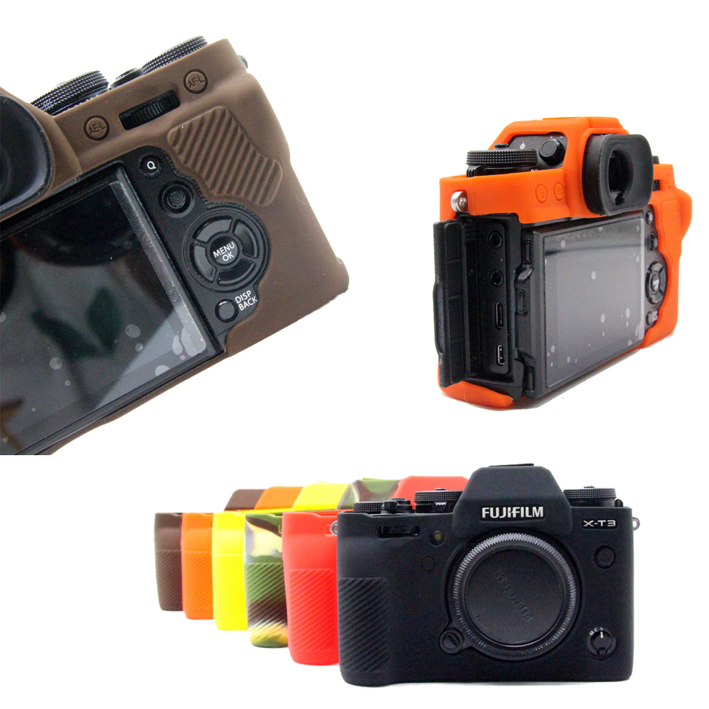 Nice Soft Camera Video Bag Silicone <font><b>Case</b></font> Rubber Camera <font><b>case</b></font> Protective Body Cover Skin For <font><b>Fujifilm</b></font> XT3 FUJI <font><b>X</b></font>-<font><b>T3</b></font> image