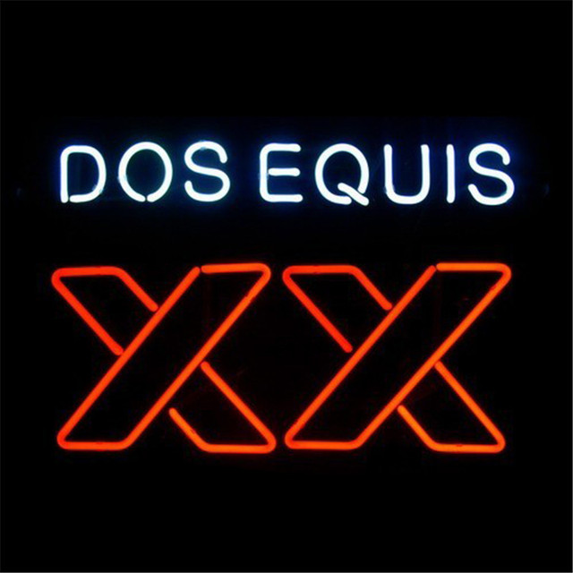 NEON SIGN ForXX Dos Equis SIGN Signboard REAL GLASS BEER BAR PUB display christmas  Light Signs - NEON SIGN ForXX Dos Equis SIGN Signboard REAL GLASS BEER BAR PUB