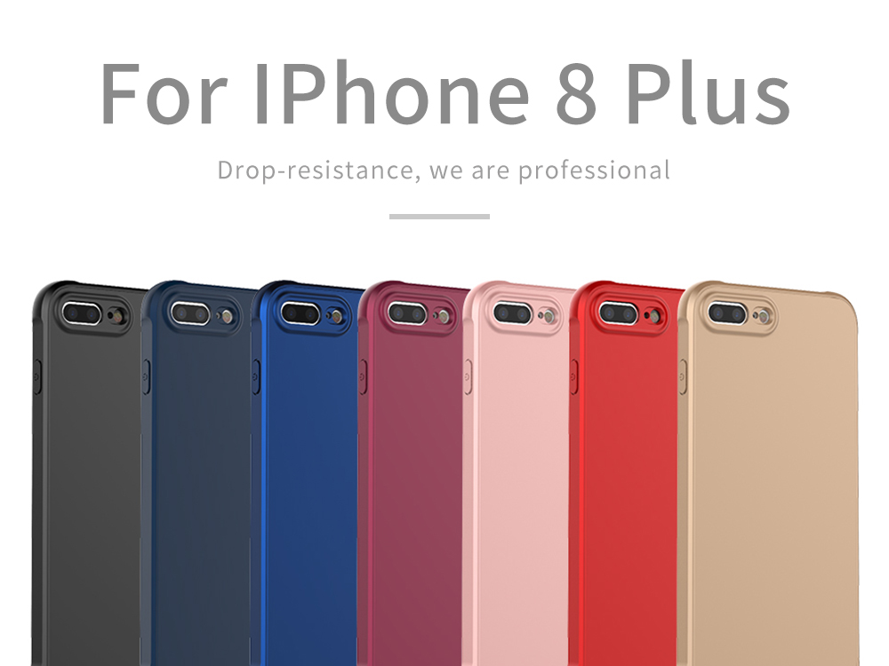 Lantro Phone Case for iPhone 8 Plus Only 5 Color Option Fitted Luxury Soft