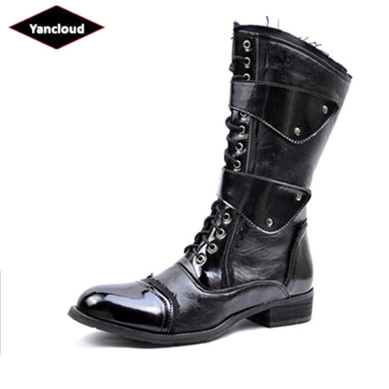 23ddb000 Botines Patente 2019 Zapatos Para Hombre Militares Negro Trabajo Caballero  Impermeable Hombre Invierno Botas La De Martin Cuero Yzq1w