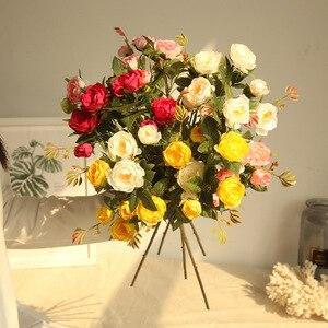2018 новый 5 голов маленький чай Роза филиал шелковые искусственные цветы поддельные Флер Камелия для украшения дома Шелковый пластик Флорес