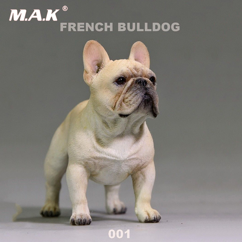где купить 1/6 scale French cute bulldog pet model toy fit for 12