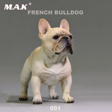 1/6 scale French cute bulldog pet model toy fit for 12