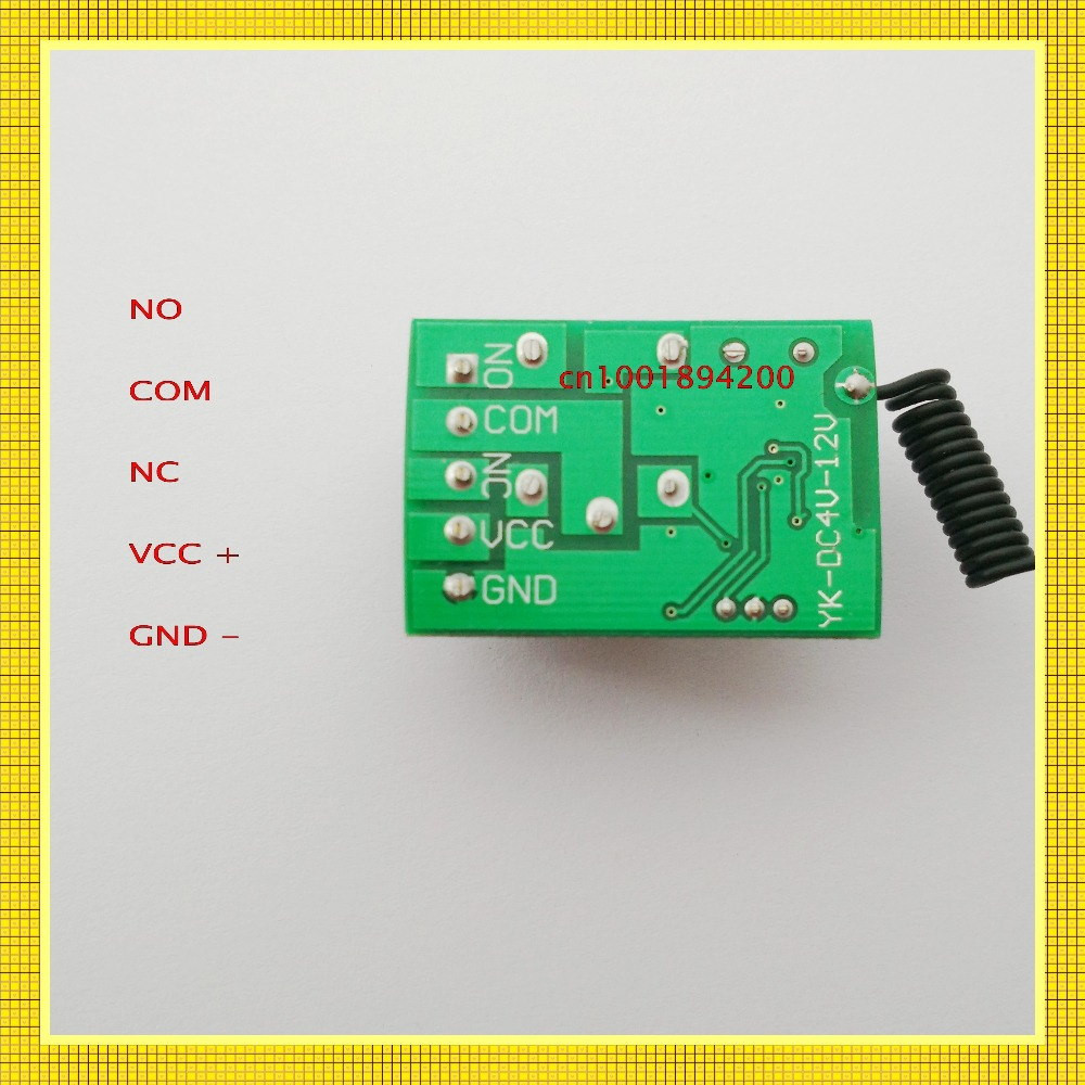 DC4V 4.5V 5V 6V 7.4V 9V 12V Small Size Relay Remote Switch Computer ON OFF Button Wireless Switch Door Openner Button RF RX TX