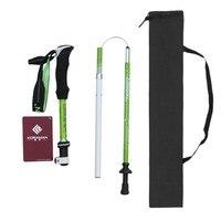 KORAMAN Ultra Lightweight Carbon Aluminum Alloy Walking Stick 4 Sections Telescopic Anti-skid Walking Stick Climbing Pole NEW