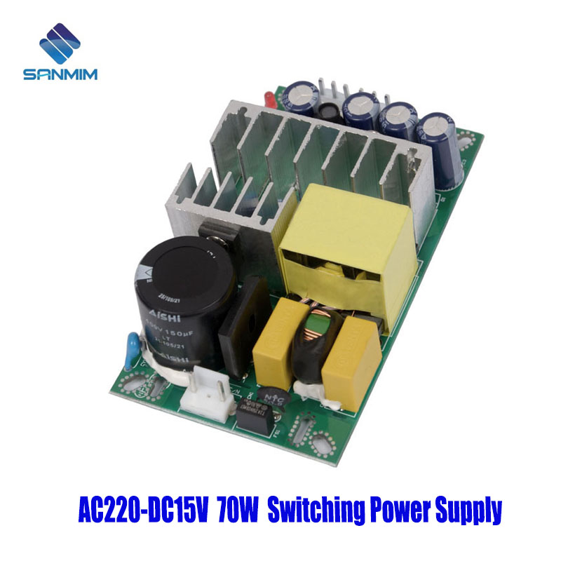 SANMIN AC220V-DC15V 4.8A 70W Power supply Isolated switch power supply module 220 to 15v bare board GPT70A15V