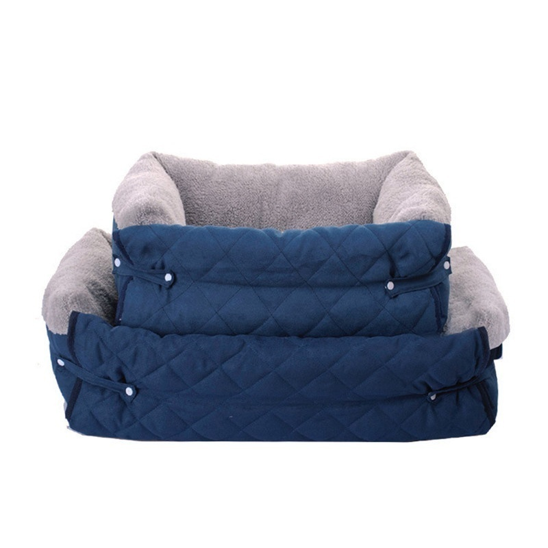 Multipurpose Dog Sofa Bed Soft Fleece Pet Nest House Warm Indoor Dogs Sleeping Kennel Cushion For Cat Puppy image