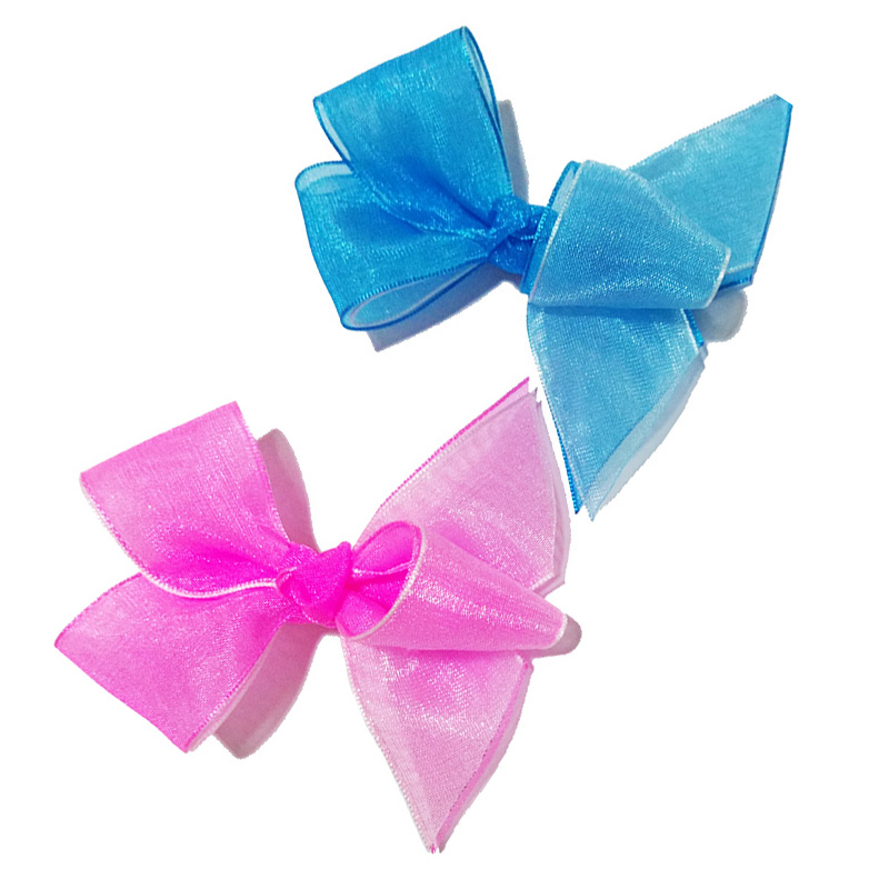 6PCS Handmade Hair Bow Alligator Clips Girls Ribbon Kids Sides Accessories New