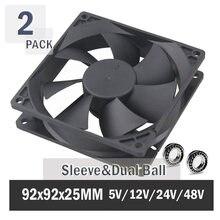 2 шт gdstime 90 мм 92 компьютерный чехол вентилятор 92x92x25