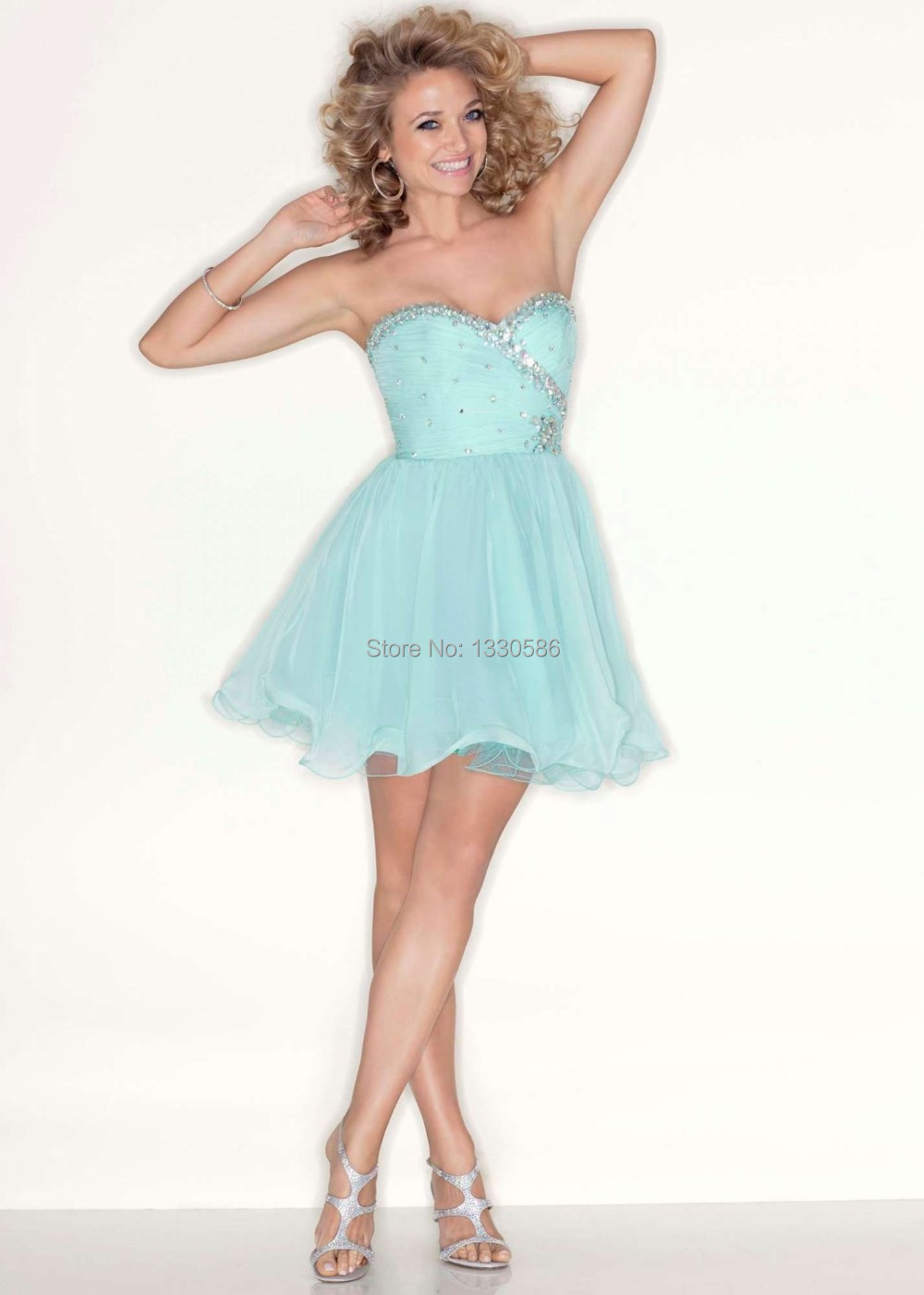 Popular Blue Strapless Homecoming Dress-Buy Cheap Blue Strapless ...