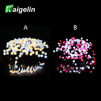 3M 400 LED Cotton Balls String Lights Guirlande Lumineuse Garland LED Strip Light Christmas New Year Wedding Decoration For Home