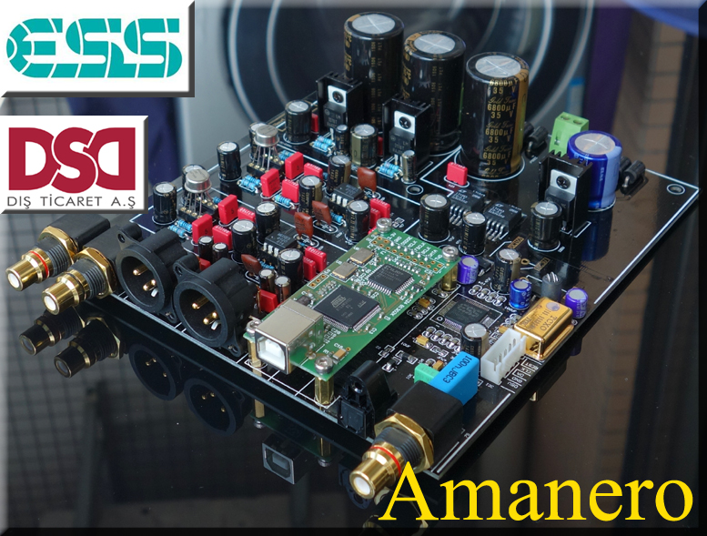 Free Ship TOP Audio DAC ES9018 ES9028 ES9028PRO DAC Decoder Board Support XMOS Amanero I2S USB