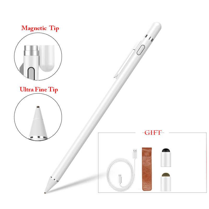 Gourde Stylus Pen para IPad Mini Recarregável de Alta Precisão Lápis Stylus Compatível Androi Equipamentos IOS Capacitive Touch Pen