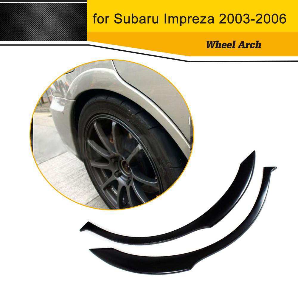 Car Style Carbon Fiber Auto Side Fender Flares Trim for Subaru Impreza 2003-2006 car styling carbon fiber side fender covers trim for nissan gtr base coupe 2008 2016